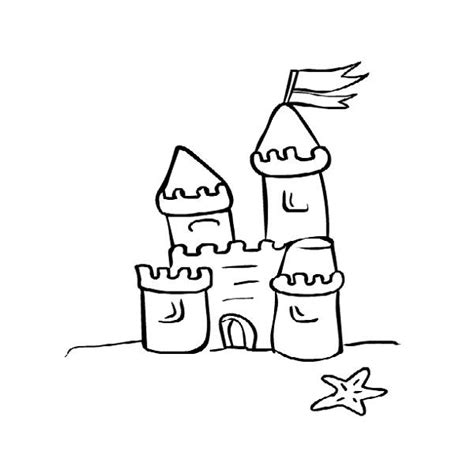Coloring With Sand by Free Sand Castle Drawing Free Clip Free