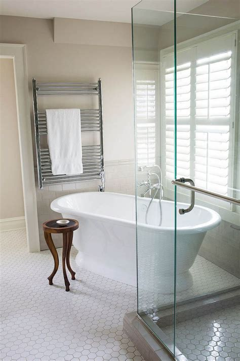 standing tub   angle  glass corner shower