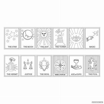 Tarot Cards Printable Yourself Cool Printabler Gridgit