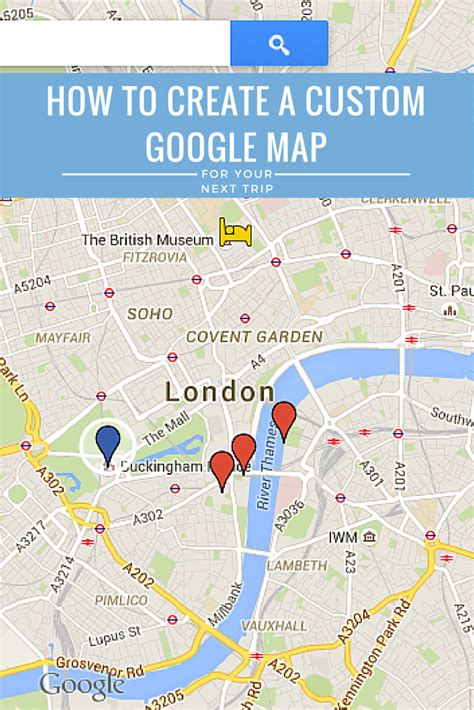 create  custom google maps itinerary