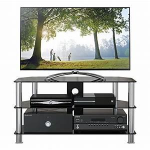 Fernsehtisch Schwarz Glas : tv rack glas schwarz bestseller shop f r m bel und einrichtungen ~ Indierocktalk.com Haus und Dekorationen