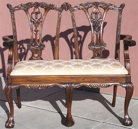 chippendale settee chippendale settee laurel crown