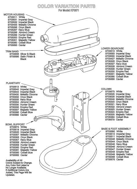 Kitchenaid Mixer Parts Images Where Buy Kitchen
