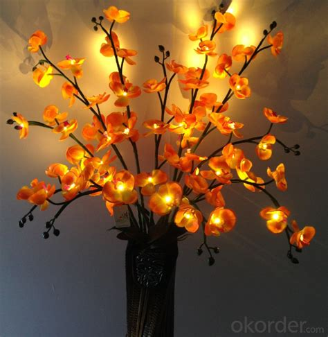 buy orange led artificial butterfly orchid flowers