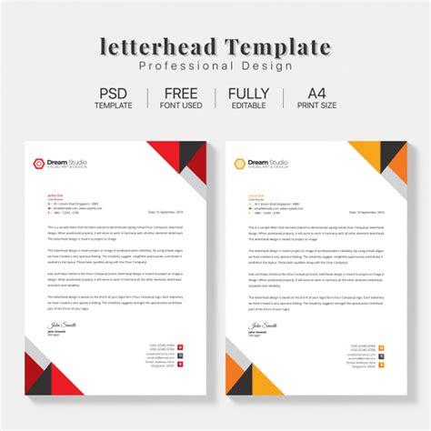 letterhead template set psd file