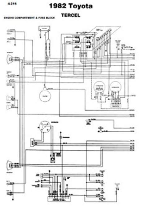 Repair Manuals Toyota Tercel Wiring Diagrams