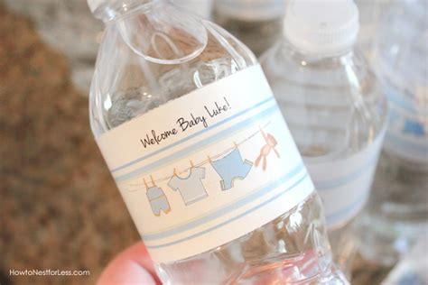 printable water bottle labels for baby shower boy baby shower free printables how to nest for less