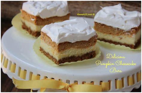 easy pumpkin cheesecake bars recipe  graham cracker