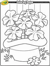 Coloring Crayola Shamrocks St Pages Patricks sketch template