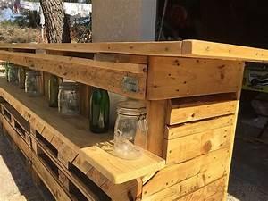 Fabriquer Meuble Bois : fabriquer meubles jardin avec des palettes 12 palettes sur pinterest palettes meubles en bois ~ Voncanada.com Idées de Décoration