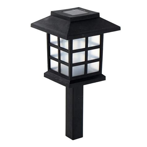solar powered l post solar powered carriage lights outdoor garden oriental led
