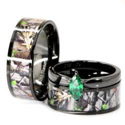 Camo Wedding Ring Sets His and Her