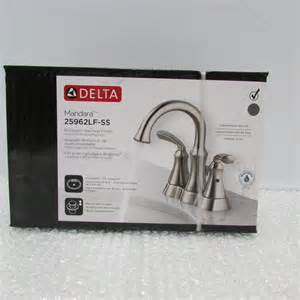 new delta 25962lf ss mandara two handle lavatory faucet ebay