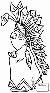 Coloring Pages Indian Chief Navajo Rug Wild West Printable Outline Getcolorings Head Drawing Pattern Categories sketch template