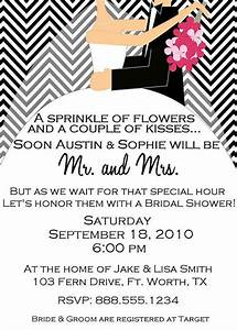 custom digital chevron bridal wedding shower invitation With wedding shower for bride and groom