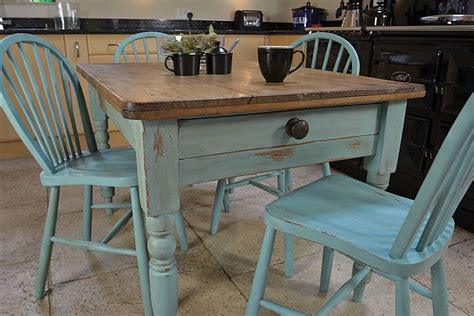 how to paint a kitchen table shabby chic shabby chic farmhouse rustic dining table with 4 stickback