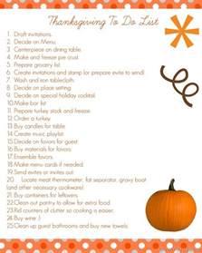 thanksgiving prep list