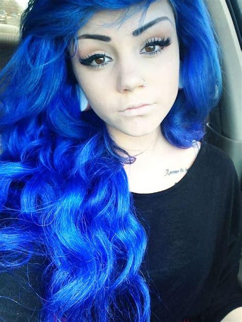 Blue Dyed Scene Hair Pretty Blondesredheads