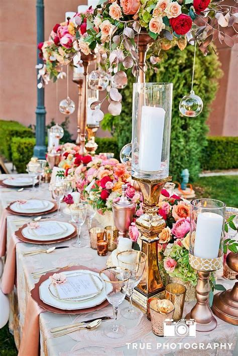 Unique and Luxurious Wedding Head Table Decor Ideas Rose