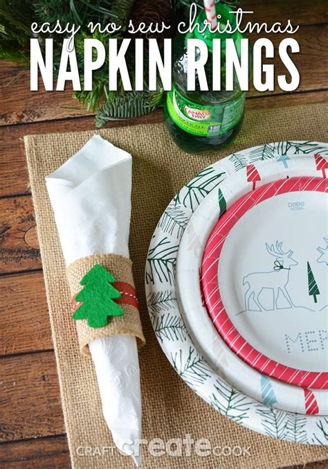 craft create cook easy   christmas napkin rings