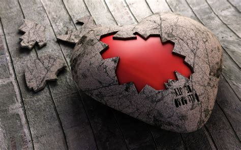 Fondos de pantalla Corazón de piedra rota 1920x1200 HD Imagen
