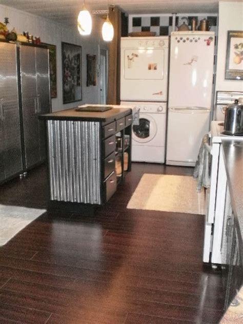 metallic kitchen backsplash 6 great mobile home kitchen makeovers mobile home living