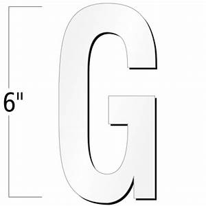 6 inch die cut magnetic letter g white sku nl mg 6 wt g With 6 inch magnetic letters
