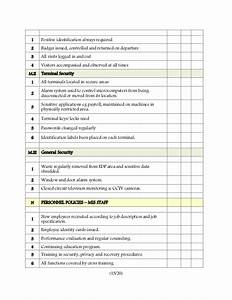 audit checklist for information systems With cctv checklist template