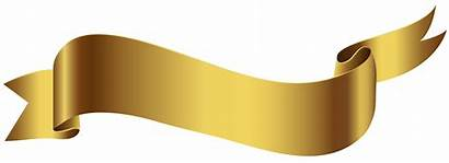 Banner Clipart Transparent Clip Gold Text Angle