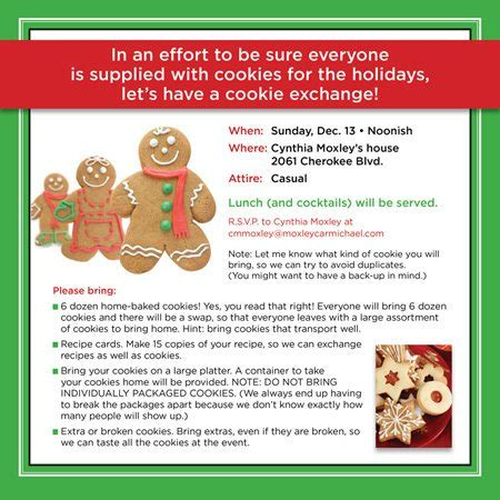 cookie exchange rules how to be sure you and your friends plenty of cookies
