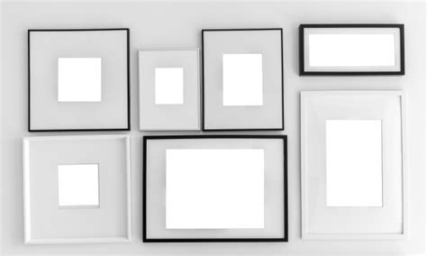 Wall With Different Types Of Frames Photo