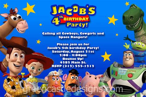 toy story party bag template free personalized toy story birthday invitations template