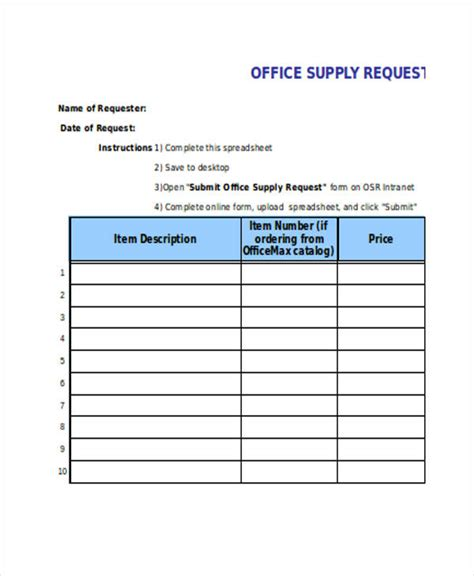 requisition forms  excel