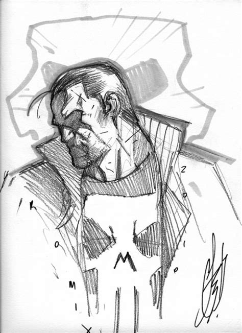 Punisher - Stefano Caselli Pencils | Comic art, Marvel