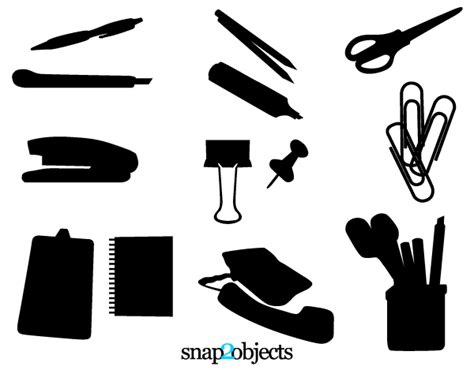 Office Supplies Vector by Free Vector Office Supplies Free Vector