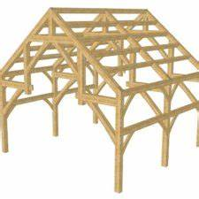 16x24 King Post Plan - Timber Frame HQ