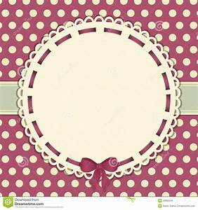 Vintage Polka Dot Background With Ribbon Stock Vector ...