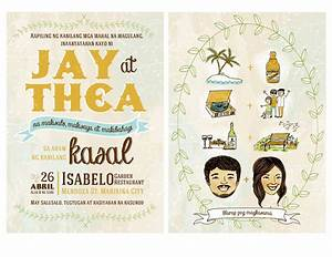 Postcard style wedding invite i made for my sister and her for Rustic wedding invitations philippines