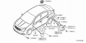 Nissan Sentra Rocker Panel Guard  Left   Body  Appearance