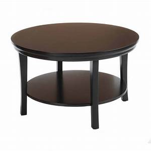 Bay shore collection 30quot round coffee table with round for Walmart round coffee table