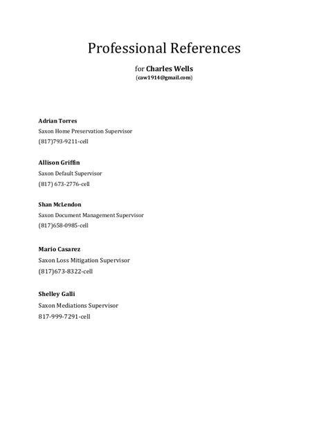 References Or Reference by Professional References