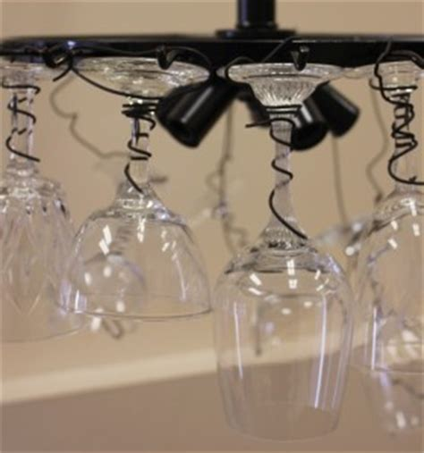 diy wine glass chandelier marc and mandy show