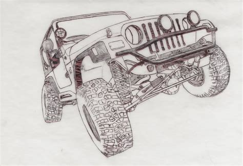 lifted jeep drawing great wrangler tj suspension shot for the jeep coloring
