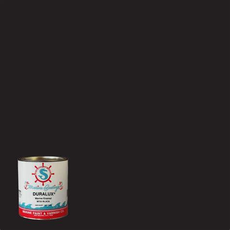 duralux marine paint 1 qt black marine enamel m722 4 the home depot