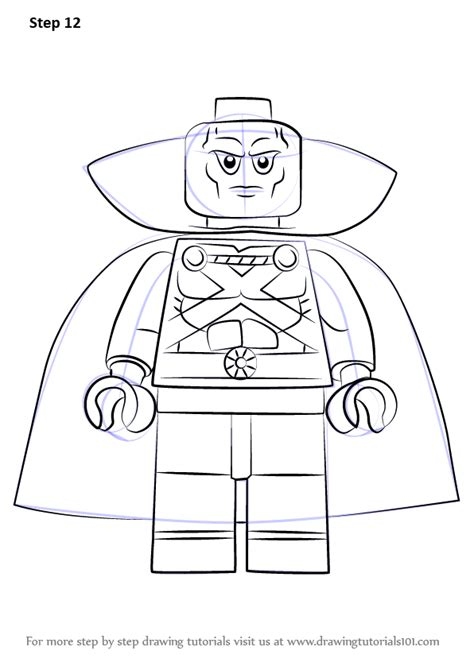 How To Draw A Lego Boat by Step By Step How To Draw Lego Martian Manhunter