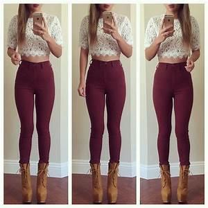 Hu0026M Slim-fit Pants High waist $19.95