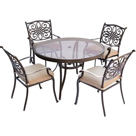 hanover traditions 5 aluminum outdoor dining set