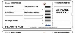 Free printable airline ticket airline ticket invitation for Flight ticket template gift