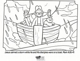 HD Wallpapers Bible Coloring Page Jesus Calms The Storm
