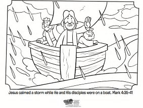 HD Wallpapers Free Bible Coloring Pages Jesus Calms The Storm